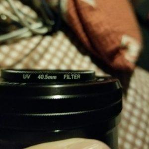 レンズフィルターが斜めに