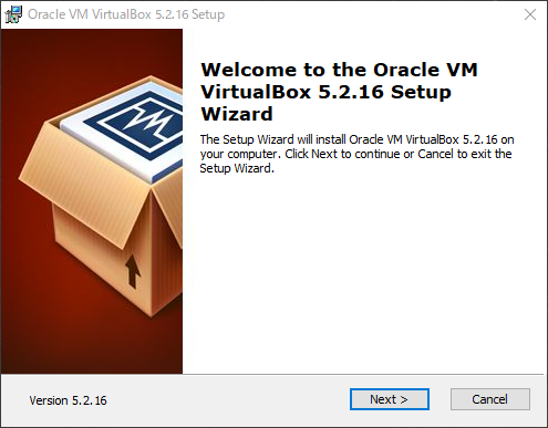 VirtualBoxインストール画面(1)