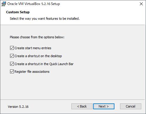 VirtualBoxインストール画面(3)